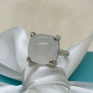 Tiffany & Co. Milky Quartz Sugar Stack Ring Size 5